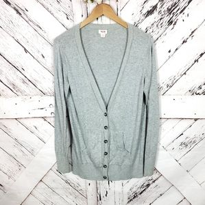 Mossimo Supply Co Grey Buttoned Cardi XL
